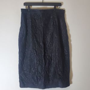 NWT Bettie Page High Waisted Lace Pencil Skirt